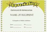 ThFree Certificate Of Appreciation Template Downloads