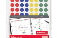 2 Inch Round Label Template Awesome Office Depot Coding Labels Dots 768 Pk Office Depot