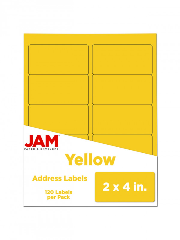 2x4 Label Template New Jam Paper Rectangular Mailing Address Labels 302724410 2 X 4