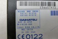 5 Tab Label Template Awesome Details Zu Steuergera¤t Modul Zv Zentralverriegelung Sg Fa¼r Daihatsu Sirion M300 04 11