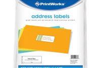 8 Labels Per Sheet Template Word New Printworks White Address Labels For Inkjet Or Laser Printers