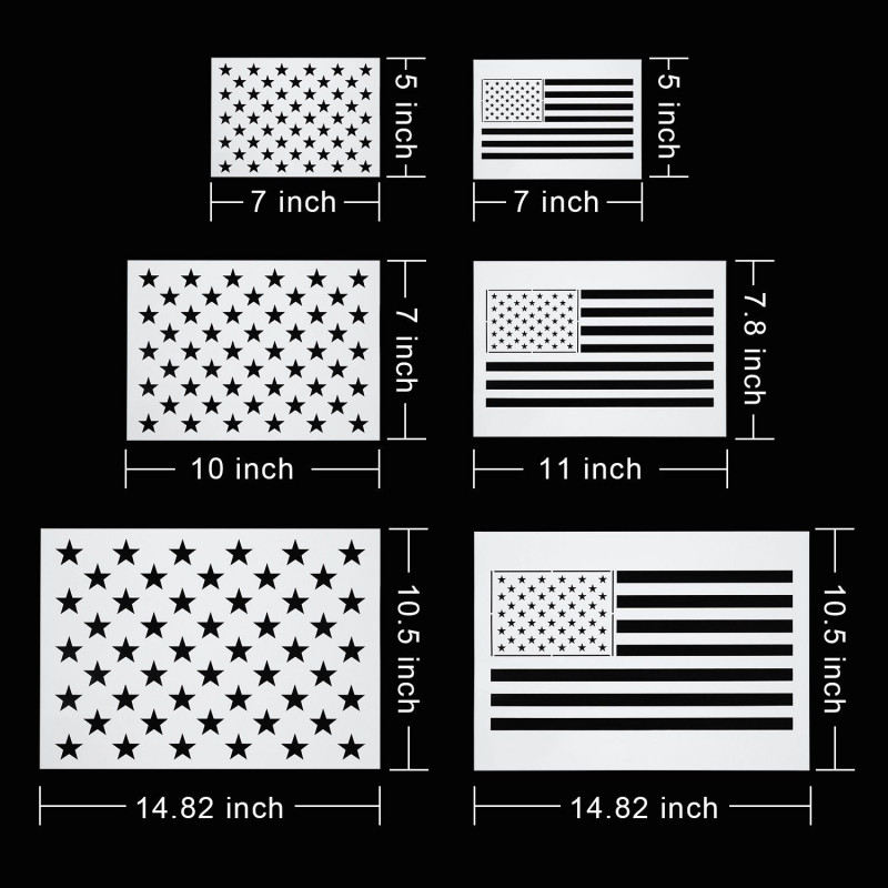 8 X 3 Label Template Awesome Star Stencil 50 Stars American Flag Template and 2 In 1