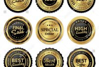 Antique Labels Template Awesome Luxury Gold Badges and Labels Premium Quality Product