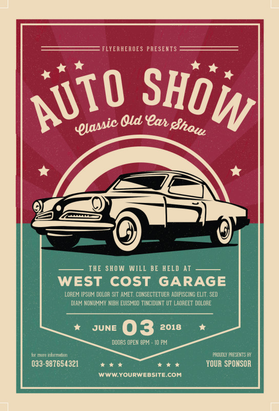 Antique Labels Template Awesome Retro Bundle 2017 With Images Poster Template Car Show