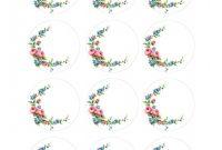 Antique Labels Template Unique Labels Free 2 Inch Floral Shabby Circles Labels
