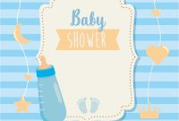 Baby Shower Bottle Labels Template Unique Baby Shower Label with Bottle and Footprints Download Free