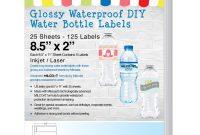 Baby Shower Bottle Labels Template Unique Milcoast Glossy Waterproof Tear Resistant Diy Water Bottle Labels 25 Sheets