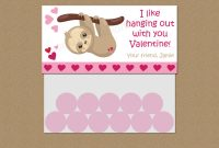 Baby Shower Label Template for Favors Awesome Printable Sloth Valentine Treat Bag topper Template