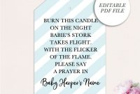 Baby Shower Label Template for Favors Unique Baby Shower Candle Tags Printable Candle Baby Shower Tag