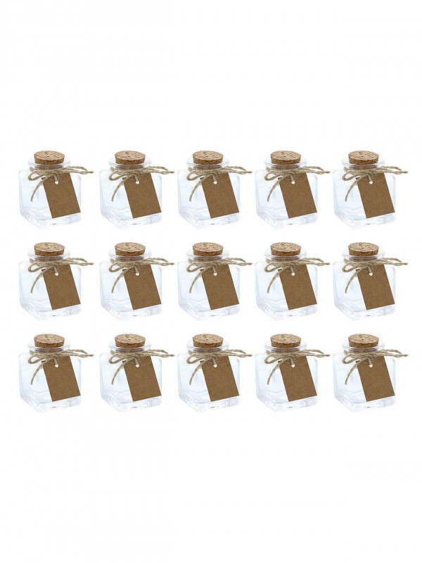 Baby Shower Label Template For Favors Unique Clear Glass Bottles With Cork Lids 15 Pack Of Mini