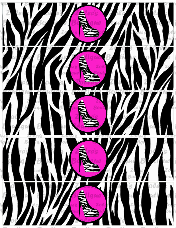 Baby Shower Water Bottle Labels Template Unique Sweet 16 Diva Theme Hot Pink Printable Party Package