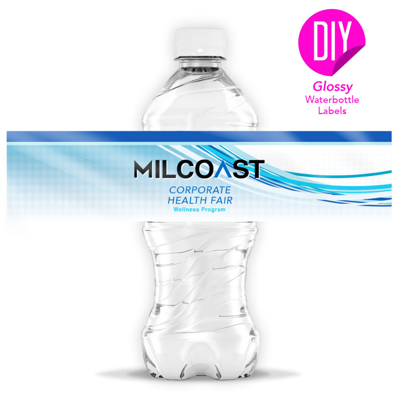 Birthday Water Bottle Labels Template Free Unique Milcoast Glossy Waterproof Tear Resistant Diy Water Bottle Labels 25 Sheets