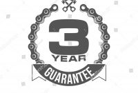 Black and White Label Templates New Illustration Three Years Warranty Icon Background Stock