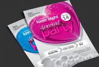 Blank Admission Ticket Template Awesome Valentine Day Package Flyer event Ticket Facebook