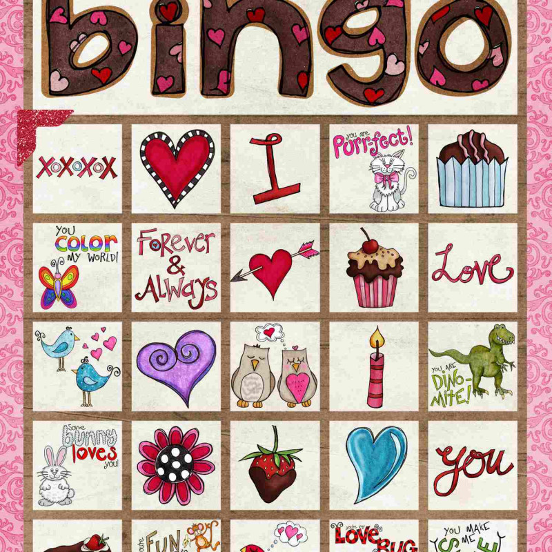 Blank Bingo Card Template Microsoft Word Awesome 12 Sets Of Free Printable Valentine Bingo Cards