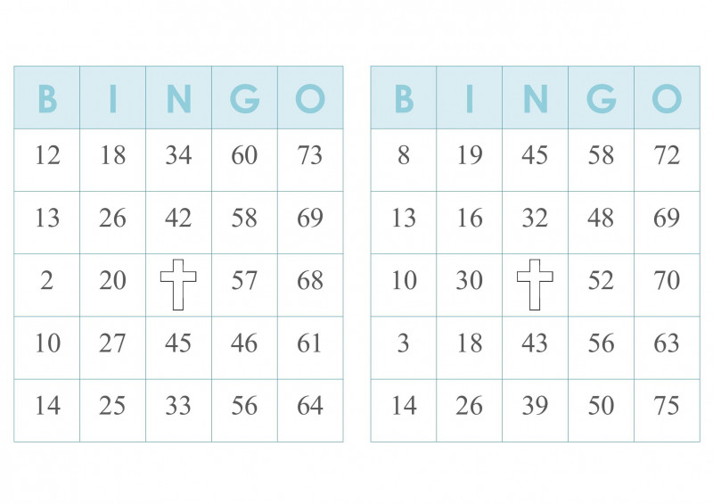 Blank Bingo Card Template Microsoft Word Unique 2000 Bingo Cards 2 Per Page Immediate Pdf Download Blue W