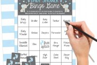 Blank Bingo Card Template Microsoft Word Unique 25 Blue Elephant Bingo Game Cards for Boy Baby Shower Bulk Blank Bingo Squares Plus 25 Pack Of Baby Feet Game Chips Funny Baby Party Ideas and