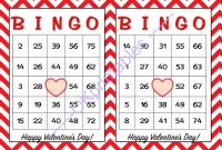 Blank Bingo Template Pdf Awesome 30 Happy Valentines Day Bingo Cards Printable School