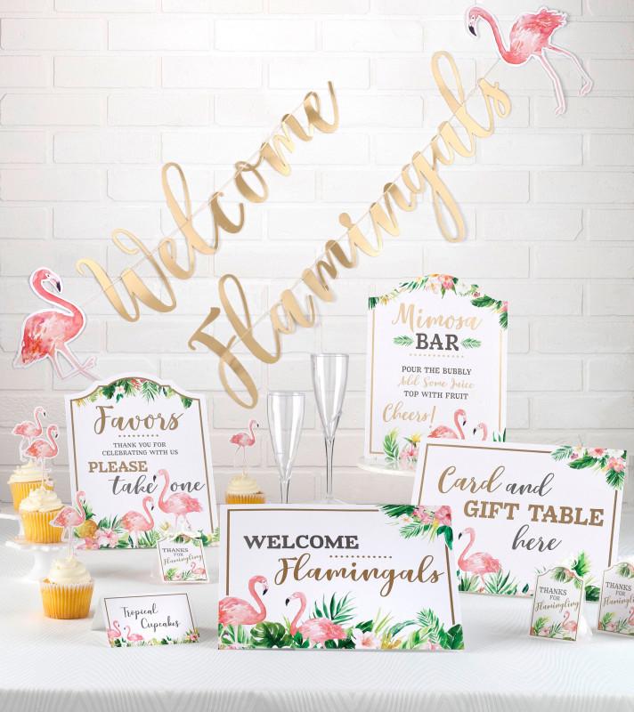 Blank Bridal Shower Bingo Template New 53 Piece Flamingo Theme Bridal Shower Decor Set