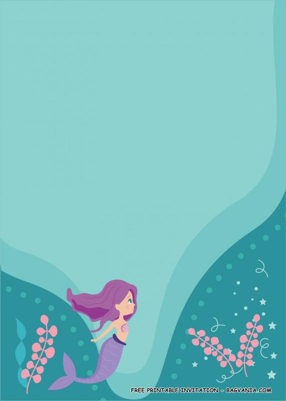 Blank Bridal Shower Invitations Templates New Free Mermaid Invitation Template