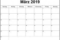 Blank Calander Template Awesome Ma¤rz 2019 Kalender Printable Calendar Calendar