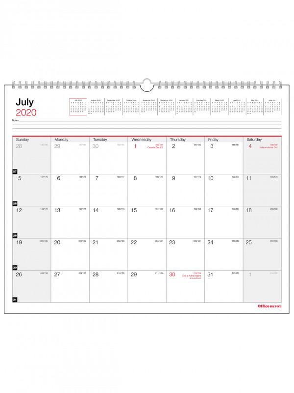 Blank Calendar Template For Kids New Office Depota Monthly Academic Wall Calendar 15 X 12 30 Recycled July 2020 To June 2021 Item 6046500