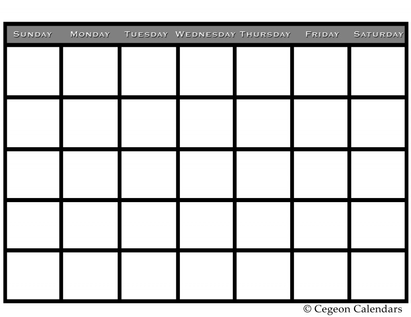 Blank Calendar Template for Kids Unique Get Your Free Printable Blank Calendar Printable Blank