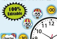 Blank Candyland Template Awesome Clock Labels Classroom Decoration Hot Air Balloon Classroom