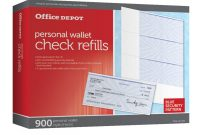 Blank Cheque Template Download Free New Office Depot Brand Personal Check Refill Pack 3 Part Pack Of