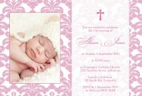 Blank Christening Invitation Templates Unique Baptism Invitation Sample Wording with Images Baby