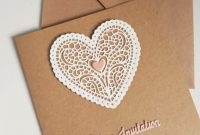 Blank Christening Invitation Templates Unique Rustic Lace Heart Wedding Invitation