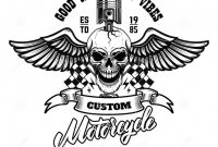 Blank Cycling Jersey Template Awesome Winged Racer Skull with Piston In Head Design Element for