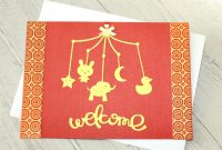 Blank Elephant Template Awesome Baby Card Welcome Yellow and Brick Baby Mobile Elephant
