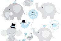 Blank Elephant Template Unique Juego De Baby Boy Elefantes Clip Art Digitales Papeles