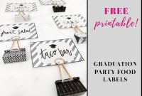Blank Food Label Template Awesome Free Printable Graduation Labels that are Adorable Howard Blog