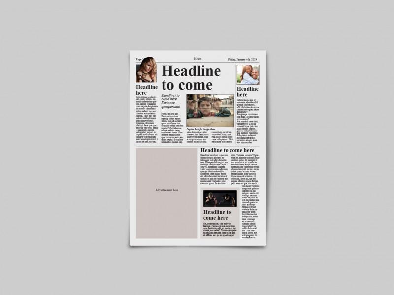 Blank Food Web Template Awesome Tabloid Newspaper Template By Dene Studios Thehungryjpeg Com