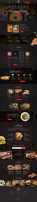 Blank Food Web Template New Spedito ordering Fast Food Psd Menu Design Template