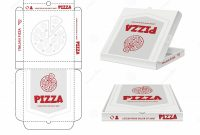 Blank Food Web Template Unique Pizza Box Design Unwrap Fastfood Pizza Package Realistic