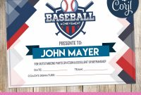 Blank Football Field Template New Blue Baseball Certificate Certificate Templates Baseball