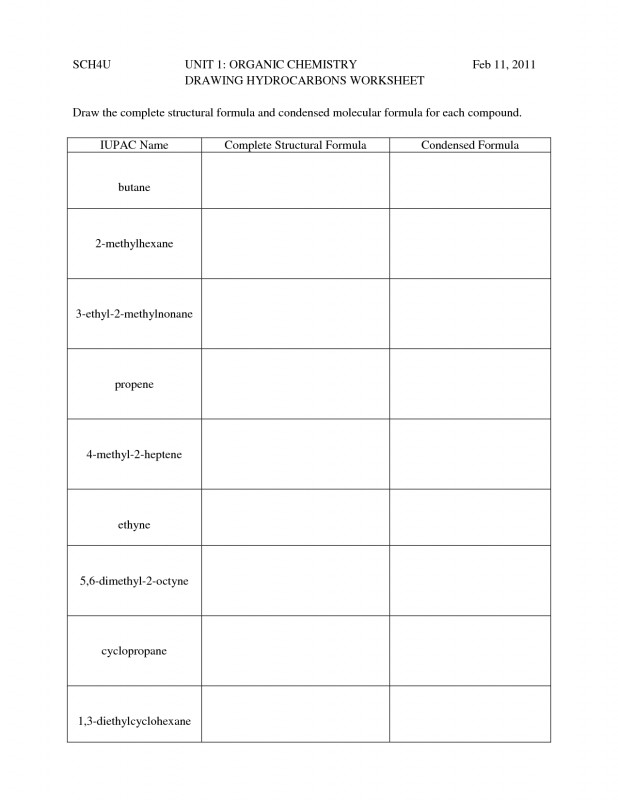 Blank Four Square Writing Template New Hydrocarbon Nomenclature Naming Drawing Hydrocarbons
