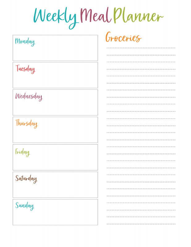 Blank Grocery Shopping List Template New Camping Menu Planner Layak
