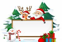 Blank Letter From Santa Template Unique Santa On Wooden Board Download Free Vectors Clipart