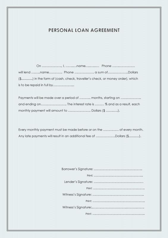 Blank Loan Agreement Template New 40 Free Loan Agreement Templates Word Pdf A… Templatelab