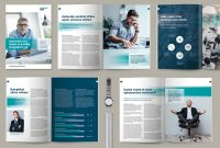 Blank Magazine Spread Template Awesome A4 Business Brochure Design Template