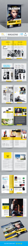 Blank Magazine Spread Template Awesome Fashion Cover Graphics Designs Templates From Graphicriver