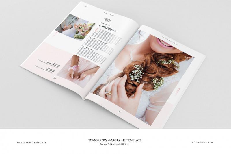 Blank Magazine Spread Template Unique Tomorrow Magazine Template Magazinetomorrowtemplates