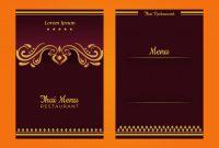 Blank Magic Card Template New Thai Menu Template Download Free Vectors Clipart Graphics
