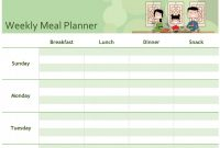 Blank Meal Plan Template New 12 Meal Planner Template Radaircars Com