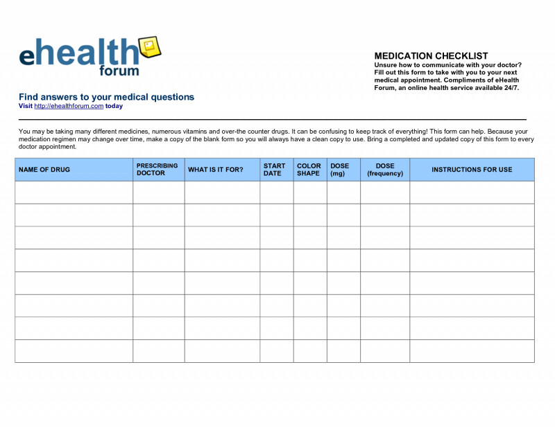 Blank Medication List Templates Awesome Dr Office Sign Sheet Template And Blank Medication