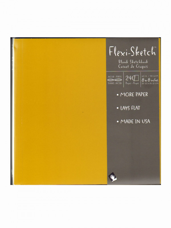 Blank Model Sketch Template Unique Global Art Flexi Sketch Sketchbooks 8 X 8 Square 240 Pages 120 Sheets Butternut Pack Of 3 Item 461071